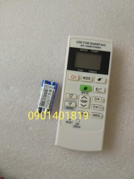 Bảng giá Điều khiển Máy Lạnh SHARP/nút chiếc lá màu xanh