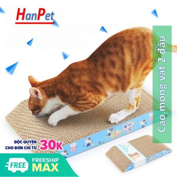 HCM- Cào móng cho mèo - hình chữ nhật vát 2 đầu 36*22*4cm ( 4711396) bàn cào mèo