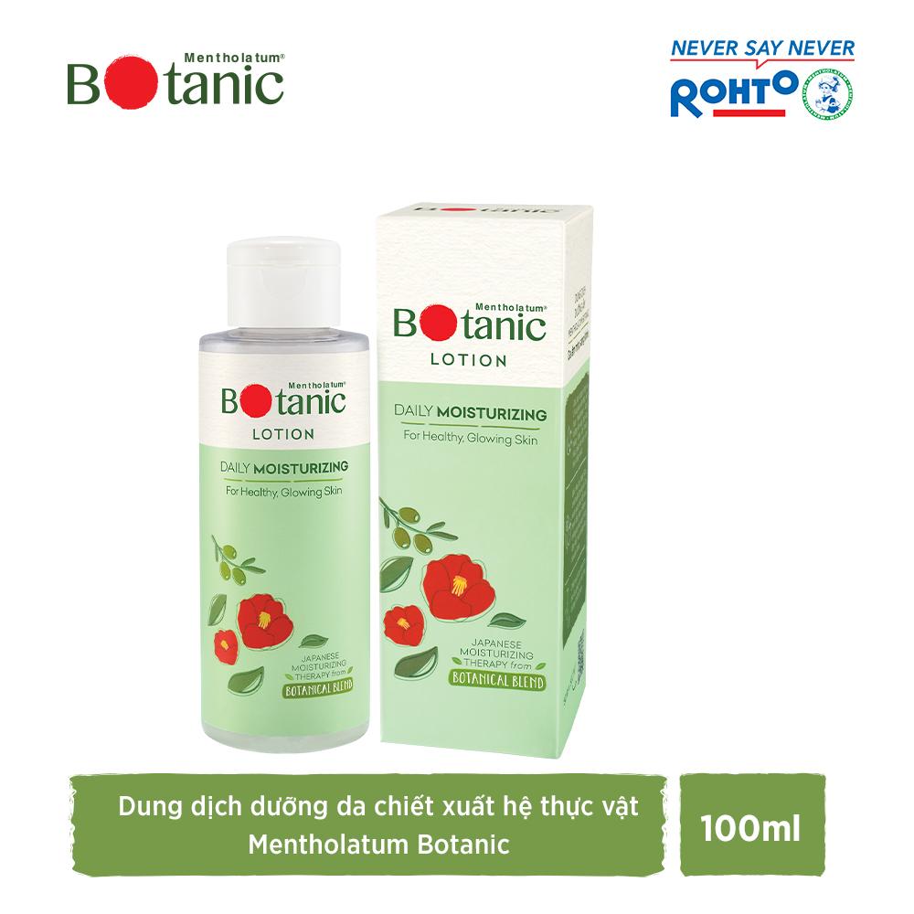 Dung dịch dưỡng ẩm mịn, da sáng khỏe Mentholatum Botanic Lotion 100ml