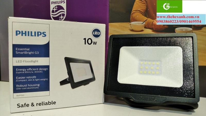 Đèn pha Philips LED chống nước chuẩn IP65 BVP150 10W SWB CE (Trắng/Vàng/Trung tính)