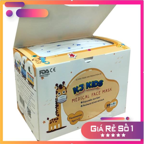 Khẩu trang y tế trẻ em - KJ Mask KIDS [hộp 50 chiếc] cho bé từ 4-12 tuổi