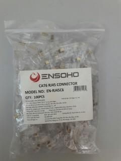Đầu bấm dây cáp mạng ENSOHO RJ45 Cat6 (túi 100 hạt) thumbnail