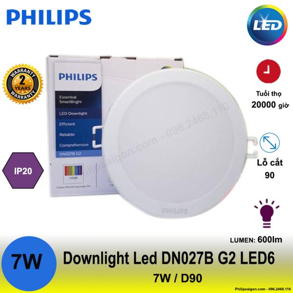 Đèn Downlight led âm trần Philips DN027B G2 7W / 10W / 14W / 17W / 22W