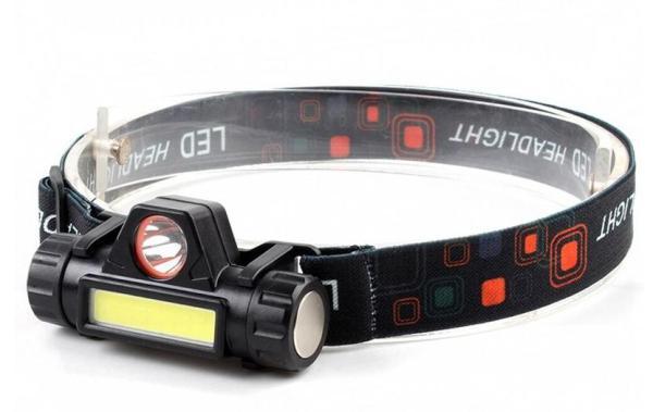 Bảng giá Đèn pin đội đầu mini HFL-03 có chân sạc USB bóng LED COB+XPE dùng pin 18650 tích hợp có chỉnh sáng vô cấp