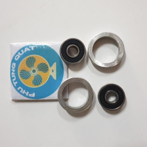 Combo 2 bộ vòng nhôm bạc đạn 608 thường (như hình) - vòng bi 608 kèm sơ mi bằng nhôm