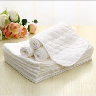 Tã 3 lớp sử dụng nhiều lần bằng vải cotton kích thước 45 16cm cho bé sơ sinh thumbnail