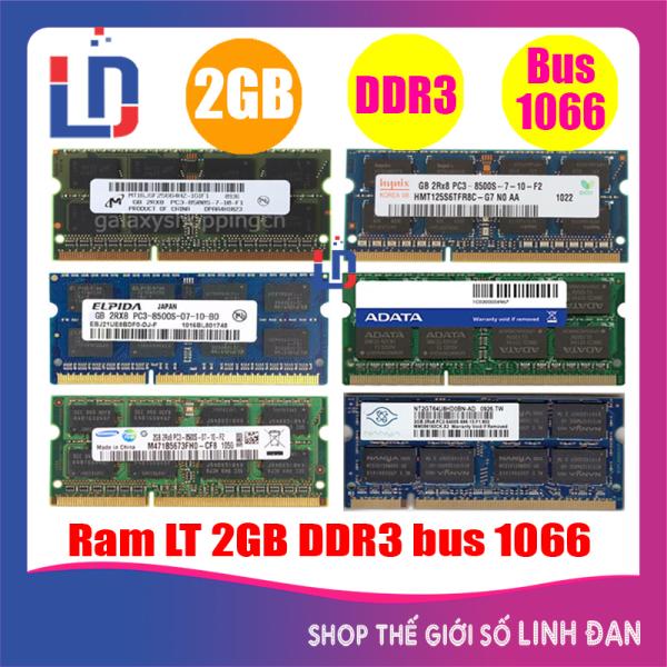 Ram Laptop 2GB DDR3 bus 1066 PC3 8500s(nhiều hãng)samsung hynix kingston - LTR3 2GB