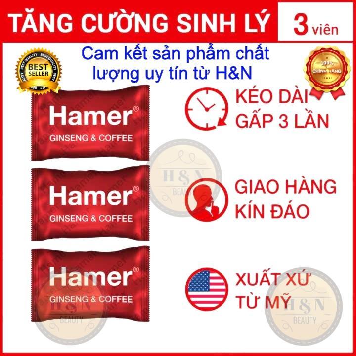 Bộ 3 viên kẹo Sâm Hamer nhập khẩu