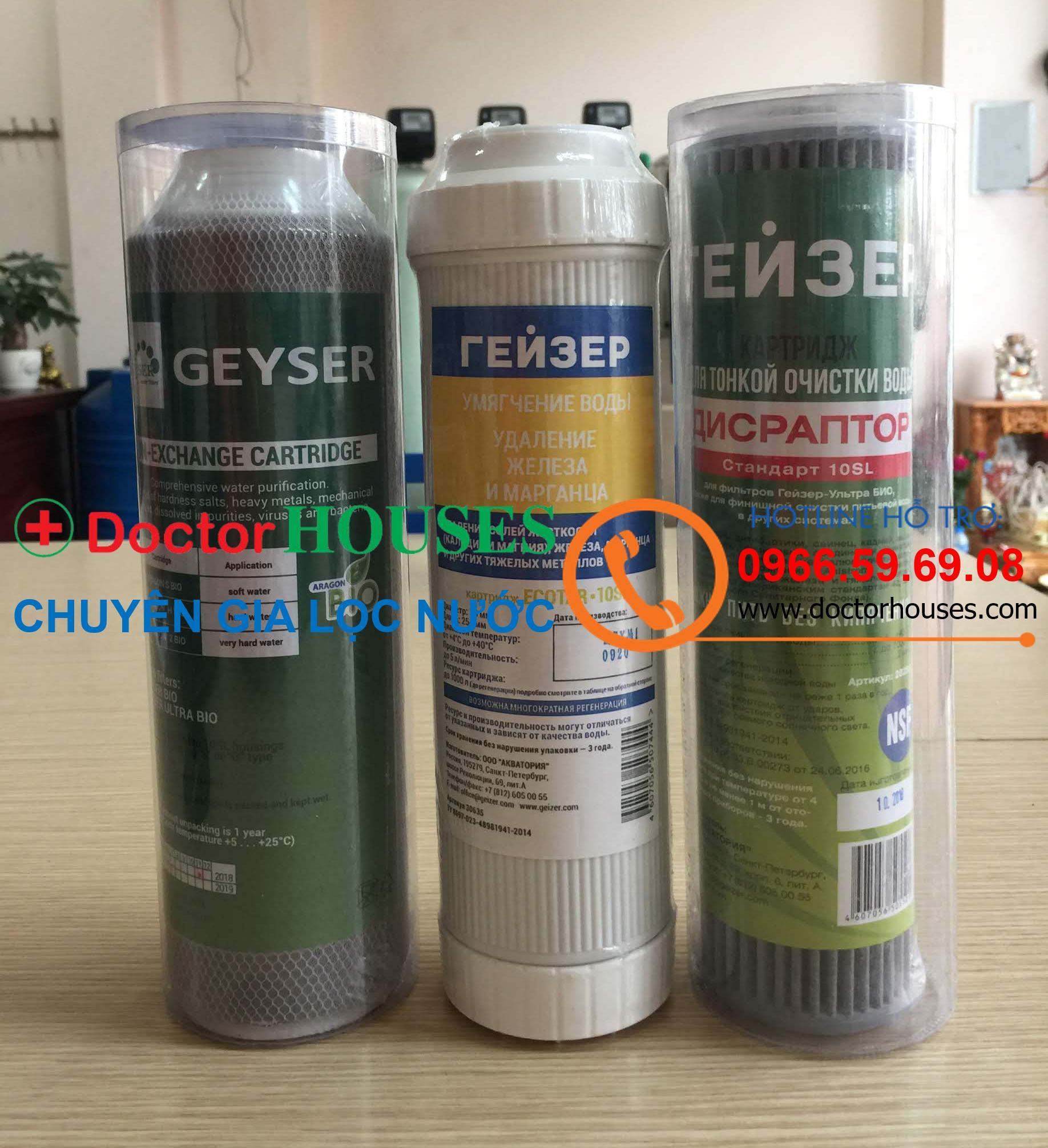 Bộ lõi lọc 1,2,3 Máy lọc nước ecotar 4