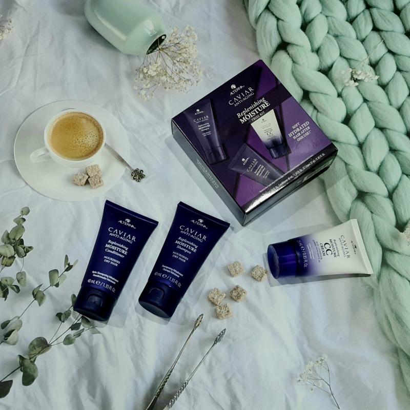 Set Trail Kit dầu gội dầu xả và cc cream tái tạo độ ẩm ALTERNA Caviar Anti-Aging - Replenishing Moisture