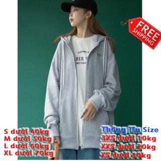 [FREESHIP TOÀN QUỐC] Áo khoác nữ form rộng đi học, hoodie nữ có dây kéo form rộng thumbnail
