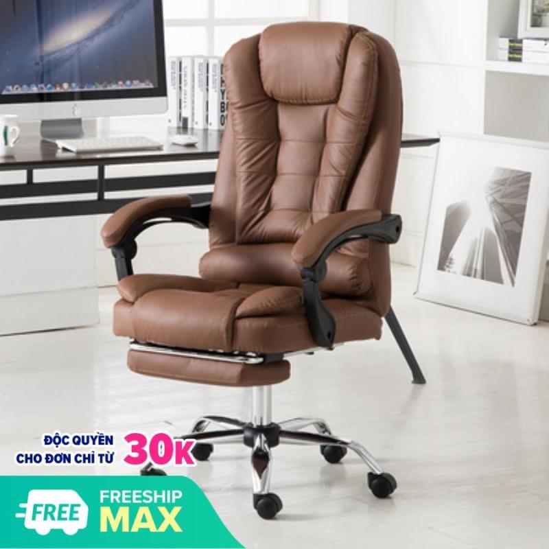 [Giảm Sốc] Ghế xoay văn phòng, Ghế giám đốc có massage 5 điểm-có để chân cao cấp H148 giá rẻ