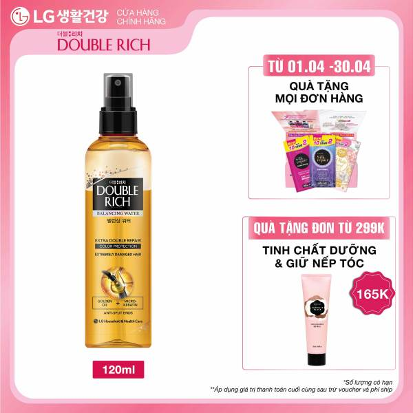 Nước dưỡng nuôi dưỡng tóc óng mượt cho tóc nhuộm Double Rich Extra Double Repair 120ml nhập khẩu