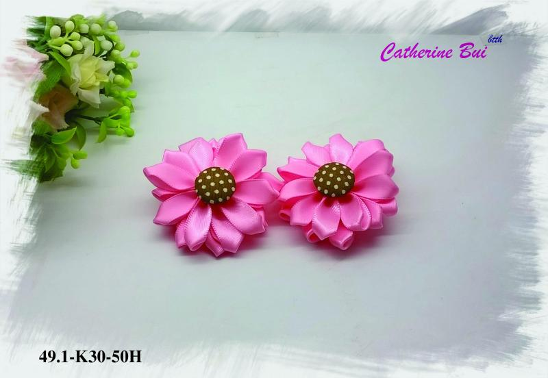 Giá bán Kẹp xíu hoa satin C-49.1-K30-50H