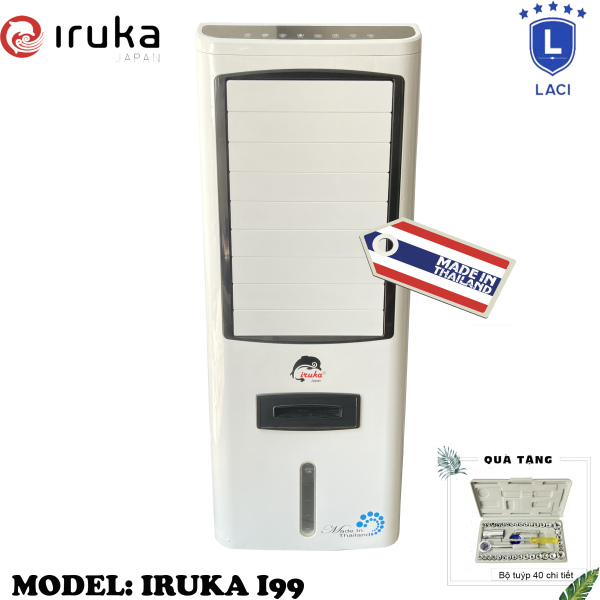 Bảng giá Quạt hơi nước làm lạnh không khí Iruka I99 Made In Thái Lan | Công suất 200W | Màn hình cảm ứng có remote điều khiển | BH 12 Tháng Chính Hãng | Tặng Bộ Dụng Cụ 40 Món