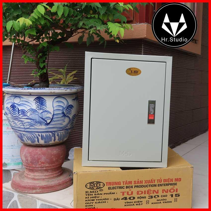 Tủ điện nổi sơn tĩnh điện công nghiệp MD 40x30x15