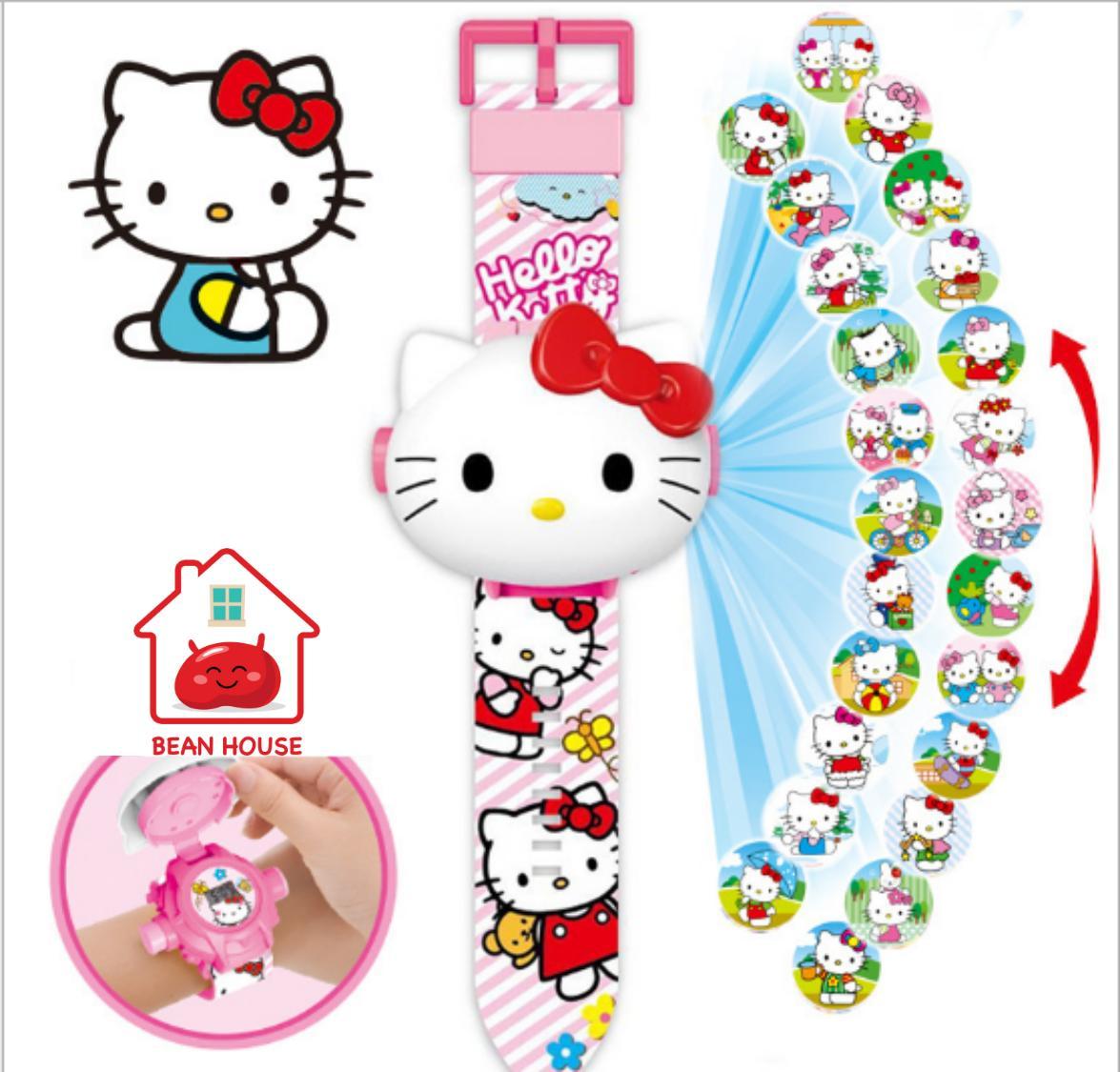 Đồng hồ chiếu 24 hình mèo Kitty Siêu Đáng Yêu bán chạy