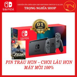[Trả góp 0%]Máy Nintendo Switch New Model Gray Joy V2 [Pin Lâu Hơn] + 12 tháng bảo hành + Tặng Game Zelda thumbnail