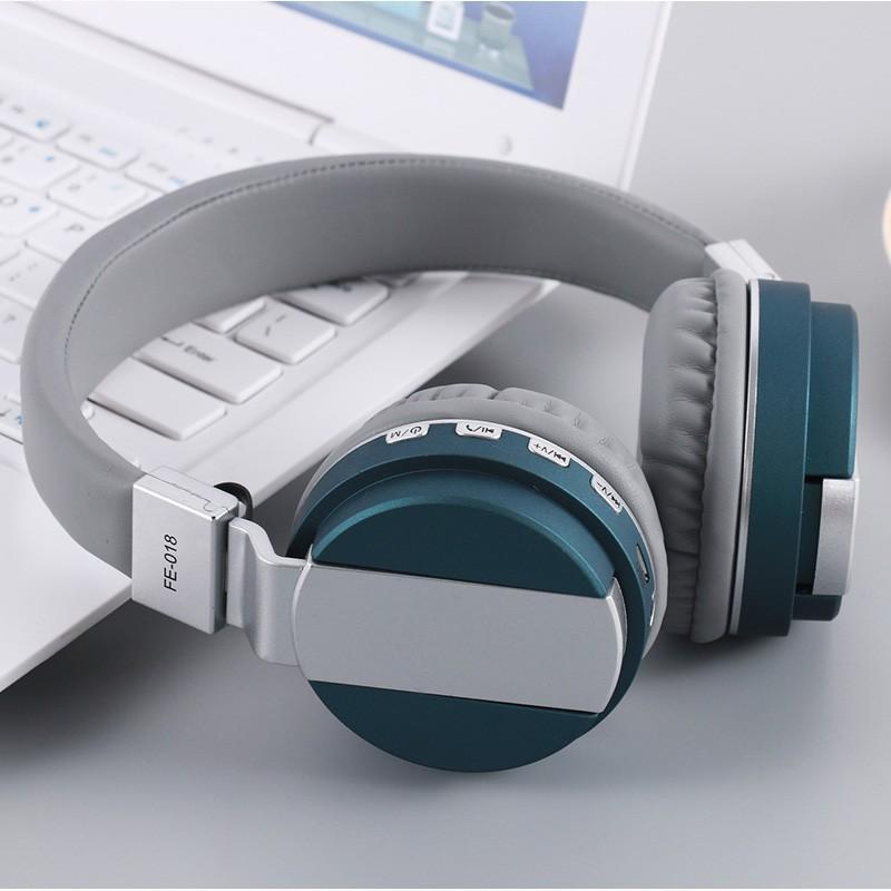 Deal Giảm Giá Tai Nghe Bluetooth Chụp Tai FE018 , Tai Nghe Không Dây Bluetooth , Tai Nghe Chụp Tai Kèm Mic Tốt Version FE018 , Mua Ngay Tai Nghe Bluetooth Chụp Tai Fe018 Chuẩn Kết Nối Bluetooth 4.1 , Kết Nối Ổn Định Tới 10M , Dây Line 3.5 Mm , Bảo Hành 12T