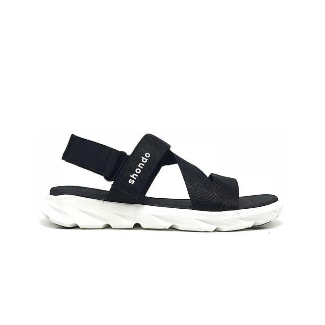 Giày Shondo Sandal Trắng Đen F6S003 giá rẻ