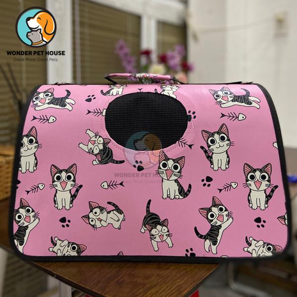 [ Túi Vận Chuyển Cho Mèo] Túi Xách Cho Mèo - Lồng Vận Chuyển Chó Mèo Anime Đáng Yêu