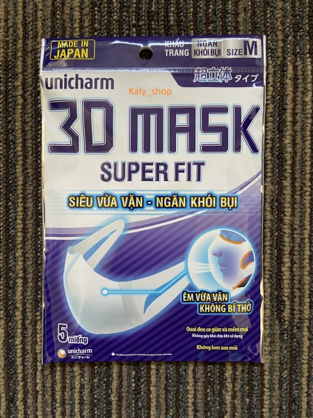 Khẩu Trang 3D Mask Unicharm Super Fit ( MADE IN JAPAN )