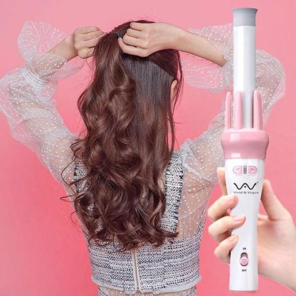 Máy làm tóc, Máy uốn tóc, Máy uốn tóc xoay 360 độ, Làm xoăn tự động dễ dàng, nhanh chóng