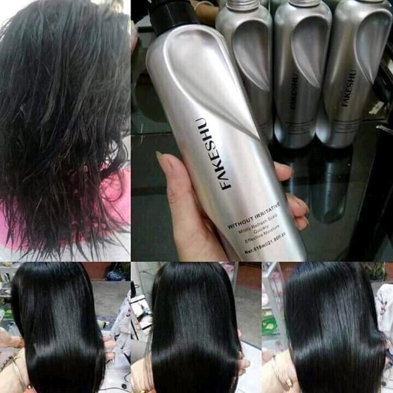 Kem Ủ tóc phục hồi tơ tằm, mềm mượt tóc Fakeshu (Khối lượng 618ml).