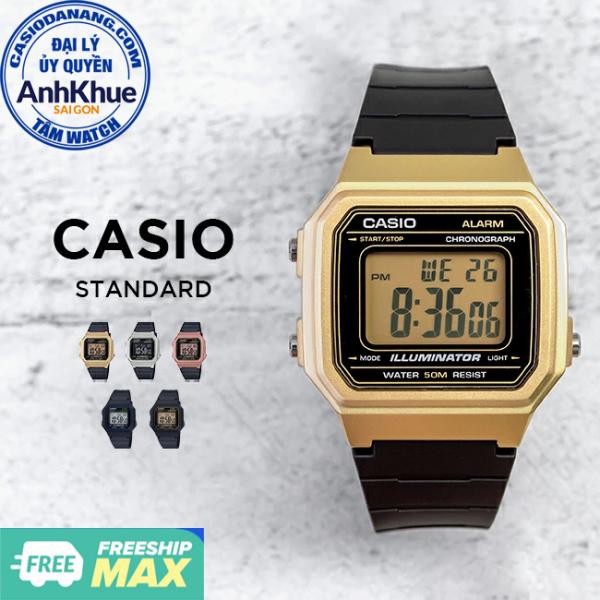 Đồng hồ unisex dây nhựa Casio Standard chính hãng Anh Khuê W-217 Series