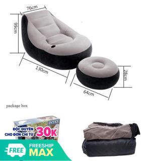 Ghế đệm bơm hơi tiện lợi Intime TẶNG bơm 2 chiều,Ghế Hơi Tựa Lưng Intex 68564 - Tặng bơm điện hút xả 2 chiều - Ghế bơm hơi, Ghế đệm hơi cao cấp chất lượng.(SALE-50%) thumbnail