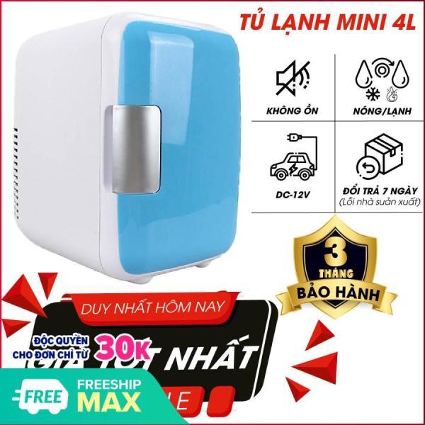 Tủ lạnh mini hộ gia đình và xe hơi VegaVN - 4Lít-Tủ lạnh, tủ mát mini dùng cả trong nhà, trên oto, xe hơi (4 Lít, hai chiều nóng lạnh) Cao cấp Agiadep