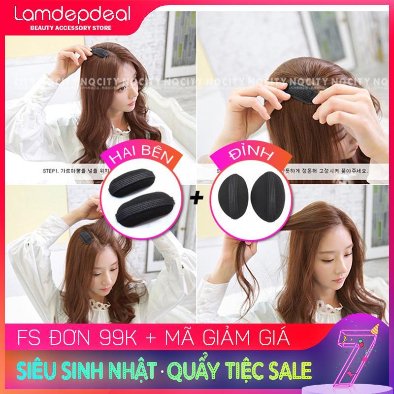 [FS 99K + MÃ GIẢM GIÁ] Combo 2 bộ đệm làm phồng tóc đỉnh và 2 bên - cách đơn giản để có mái tóc phồng đáng yêu