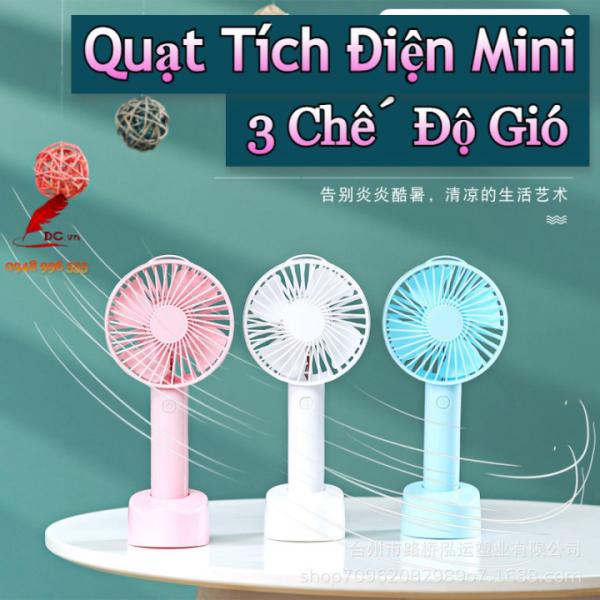 Bảng giá Quạt Mini Cầm Tay Tích Điện Sạc Usb Loại Máy Nhỏ Để Bàn 3 Cấp Độ Gió Làm Mát Nhỏ Gọn Siêu Tiện Lợi - Ba Store Phong Vũ