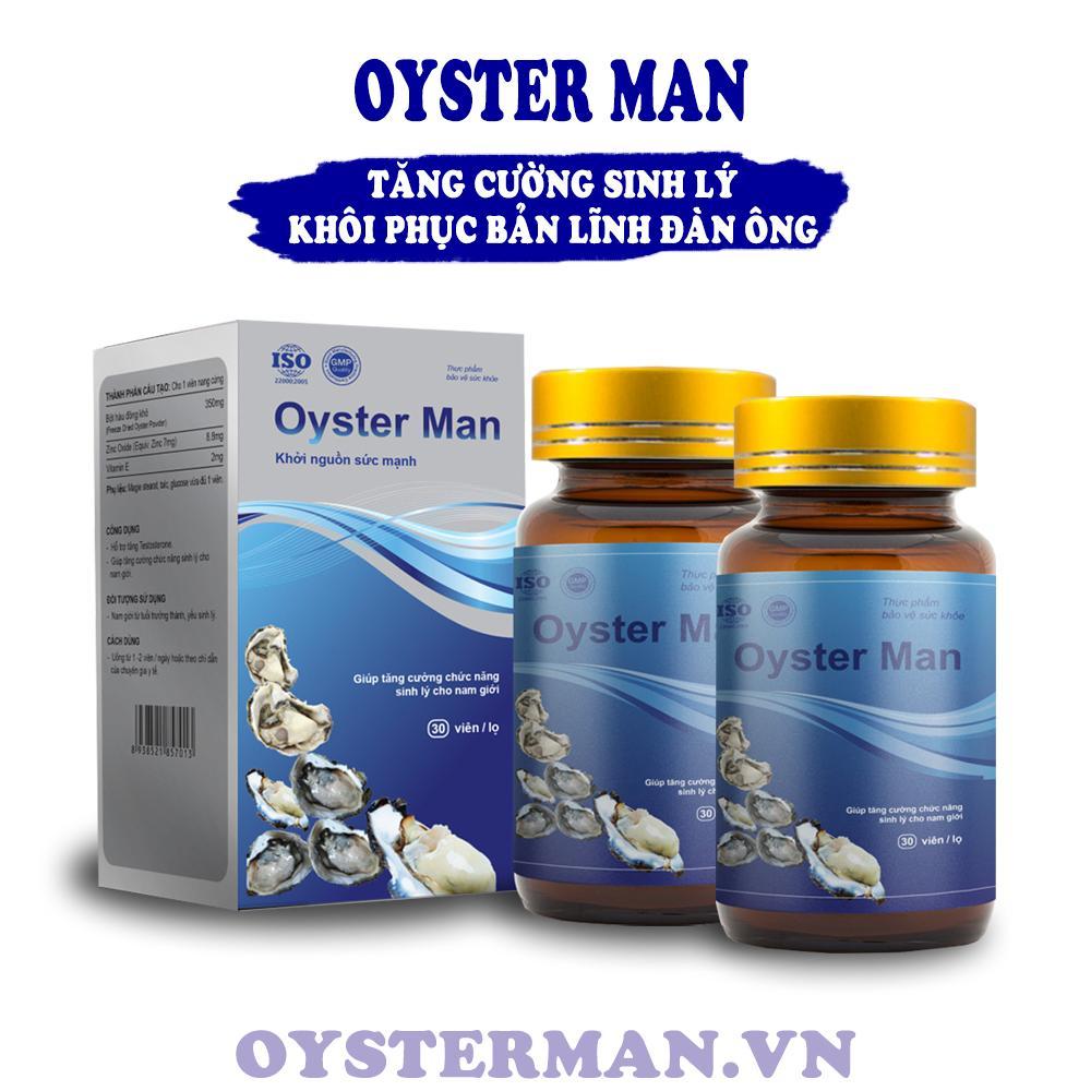 2 Hộp Hàu Oyster Man - Giúp Tăng Cường Sinh Lý Nam Giới, Hỗ Trợ Chữa Yếu Sinh Lý, Xuất Tinh Sớm chính hãng