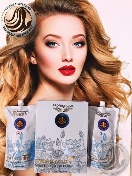 Thuốc uốn thông minh Hydro Acid 1000mlx2 Uốn tóc cực nhanh tiết kiệm thời gian giá rẻ