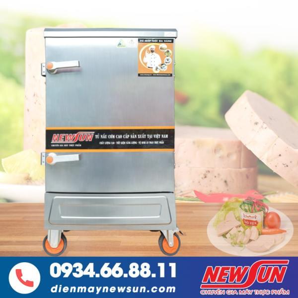 Tủ Hấp Giò Chả NEWSUN 10 Khay Điện Gas - Toàn bộ inox 304