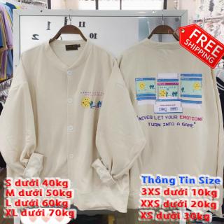 Áo khoác hoodie nữ cadigan emoji siêu xinh TP thumbnail
