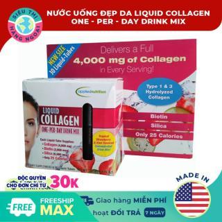 Collagen ống dạng nước Liquid Collagen Easy-to-take Drink Mix 4000mg [30 ống] [tăng cường độ ẩm cải thiện sắc tố của da kiểm soát cân nặng săn chắc cơ thể] Hàng MỸ (được bán bởi Siêu Thị Hàng Ngoại) thumbnail