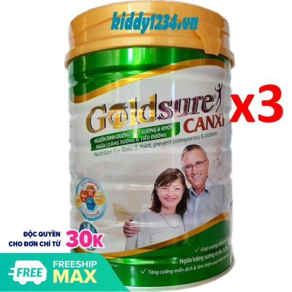 [sale]Combo 3 lon sữa Goldsure canxi ngừa loãng xương 900g dành cho người già