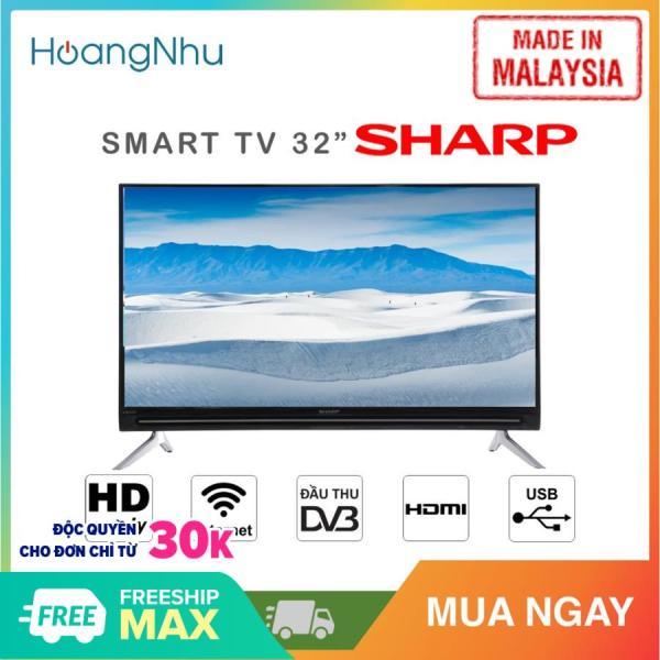 (Trả góp 0% lãi suất) Smart Tivi Sharp 32 inch Kết nối Internet Wifi LC-32SA4500X (HD, Hệ điều hành Easy Smart, Truyền hình KTS, màu đen) - Hàng Malaysia - Bảo hành toàn quốc 2 năm