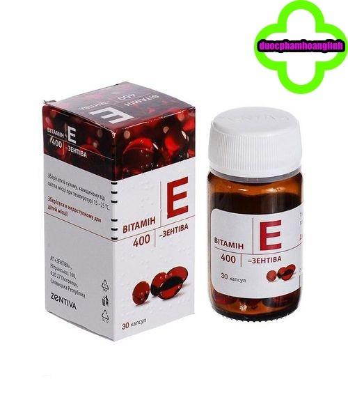 Vitamin E đỏ Nga 400mg zentiva lọ 30 viên