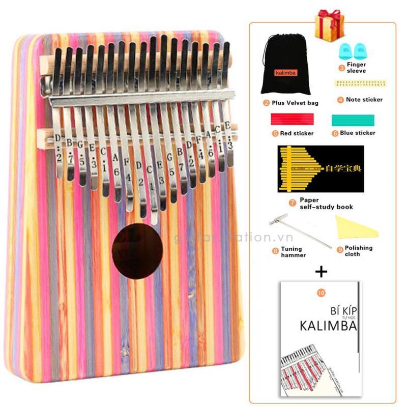 Đàn Kalimba Yael 17 Phím Gỗ - Full phụ kiện - Kalimba-Yael-Pink