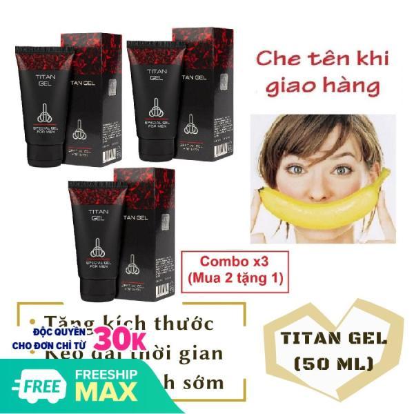 Combo x3 (mua 2 tặng 1) [lô mới nhất] Gel Titan Nga cao cấp (50ml), giúp tăng kích thước cậu nhỏ, hỗ trợ các vấn đề về sức khỏe tình dục