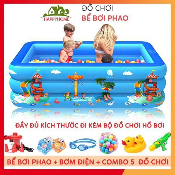 [ QUÀ TẶNG ] Bể Bơi Phao, Hồ Bơi Cho Bé Chất Liệu Nhựa PVC Nhiều Kích Thước - An toàn Cho Bé Tặng 1 Lọ Keo Và 2 Miếng Vá Bể Bơi Bảo Hành 1 Tháng