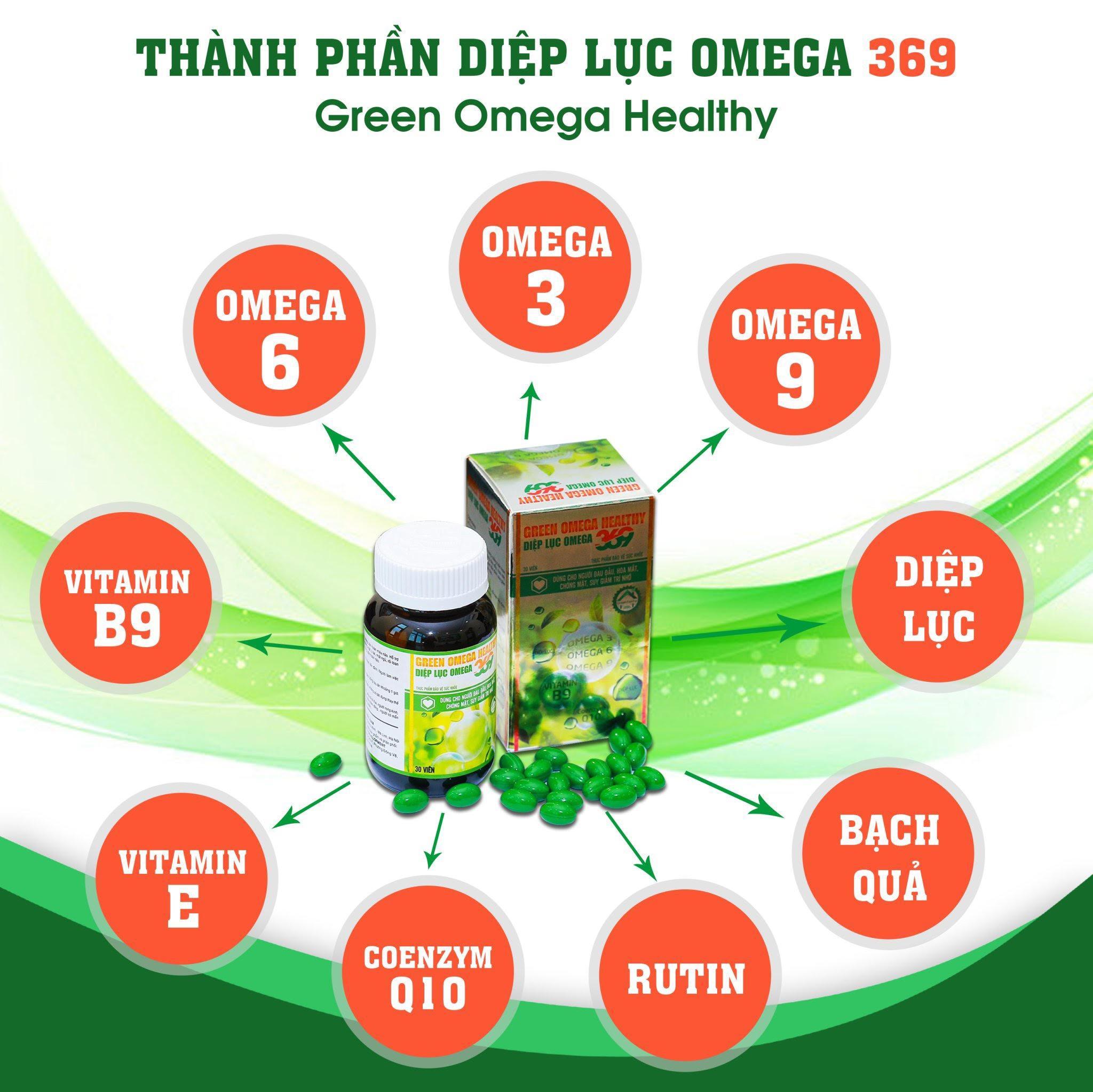Diệp lục Omega 369- giúp tăng cường thị lực, tăng cường trí nhớ cao cấp