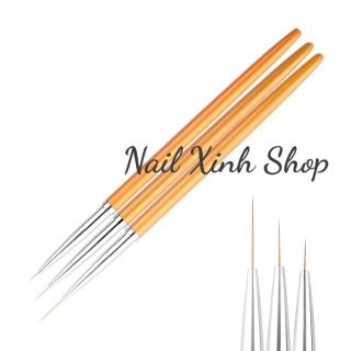 Set cọ vẽ gel, cọ vẽ móng tay nghệ thuật, nail art (1 bộ 3 cọ râu vẽ nét mỏng) thumbnail