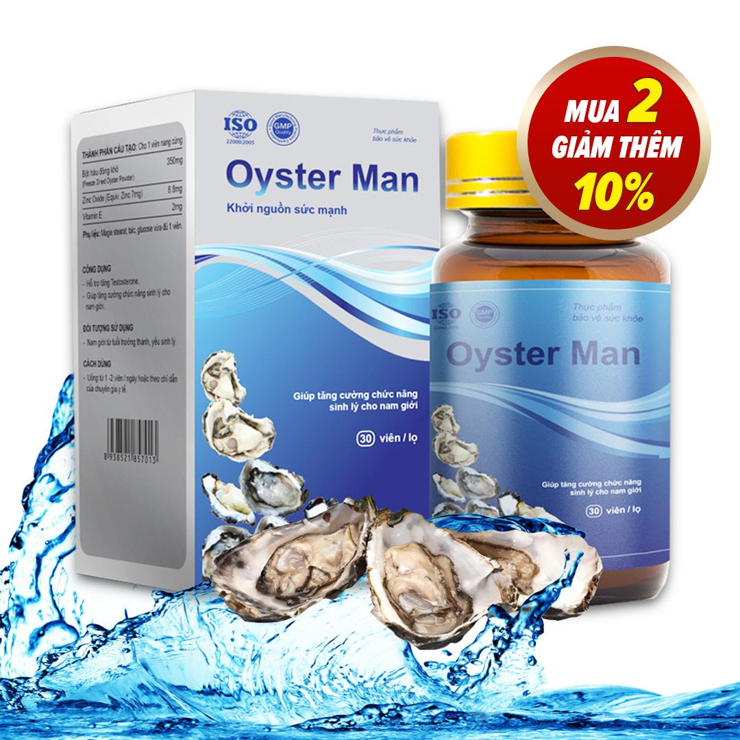Tinh Hàu Oyster Man Tăng Cường Sinh Lý Nam Giới, Cải Thiện Chất Lượng Tinh Trùng (Hộp 30 Viên) nhập khẩu