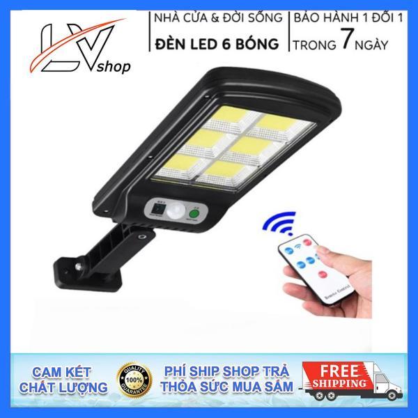 Bảng giá Đèn Năng Lượng Mặt Trời Solar Street Lamp 6 Bóng Led To Cảm Biến Chuyển Động, Kèm Điều Khiển Tắt Bật Từ Xa