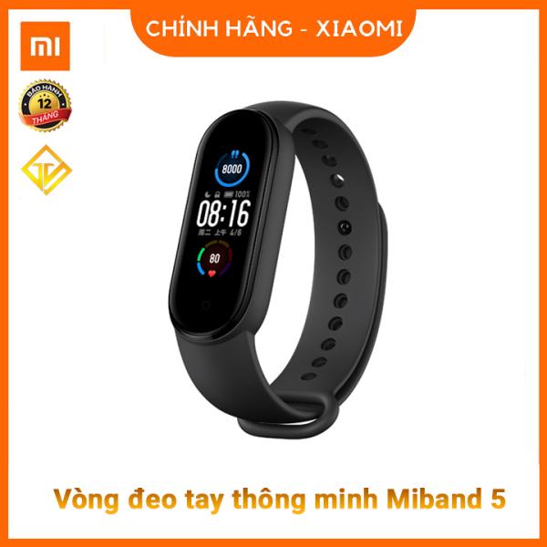 Giá Đồng hồ thông minh Xiaomi Mi Band 5 (Màu đen) / Vòng tay theo dõi sức khoẻ Miband 5 - Theo dõi nhịp tim - Thông báo tình trạng sức khỏe - Nhiều chế độ tập luyện thể thao - Chống nước