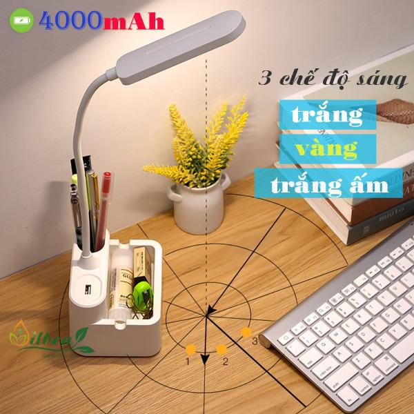 Bảng giá Đèn học để bàn chống cận sạc pin SL-868 4000mAh với 3 chế độ ánh sáng trắng, vàng và trắng ấm điều chỉnh được độ sáng